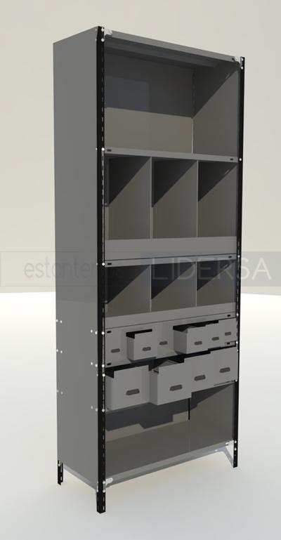 estantera metlica separadores y frentes