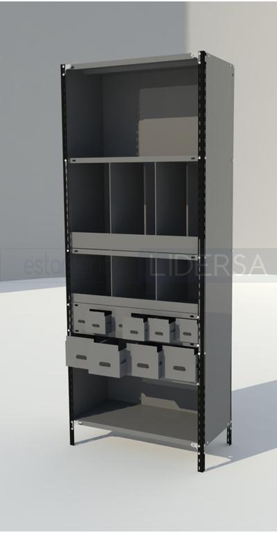 Decoracion mueble sofa cajones para estanterias for Estanteria telescopica