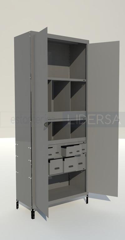 Puertas para estanterias muebeles funcionales para que for Estanterias con puertas ikea