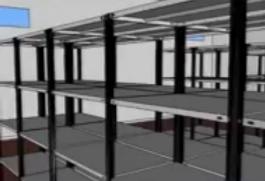 Visita virtual depósito con estanterías merálicas